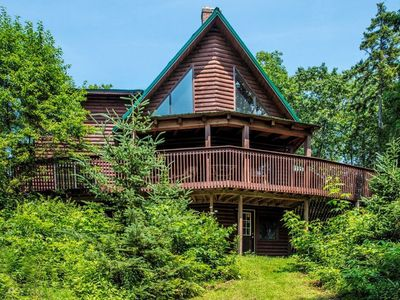 Exterior - This 2-story cabin in the woods is professionally managed by TurnKey Vacation Rentals.