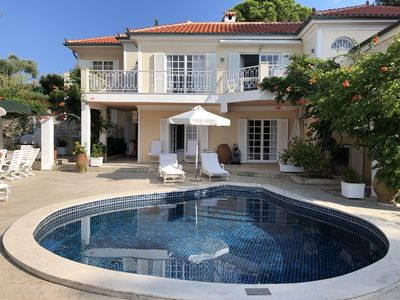 Photo for Beautiful villa with views and pool, 1 minute walk to the beach