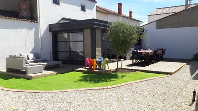 Photo for Large house 5 bedrooms downtown Tranche sur mer, disabled accessibility