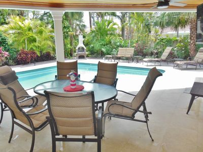Photo for 4/2 Pool Home. Tropical, Private, Short Walk to Beach/Restrnts, Rated 5 Stars!!