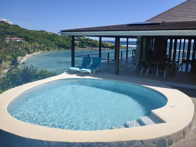 Photo for Gorgeous beachside Villa with spectacular views, kayaks  pool/barbecue area.