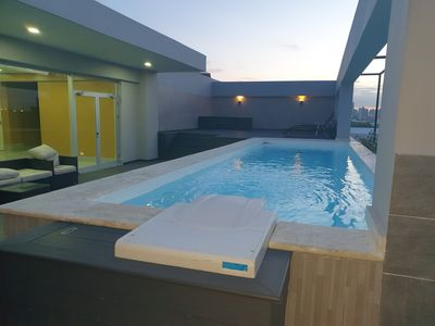 Photo for Marvelous Rooftop Pool at a Harmony Condo in Gazcue