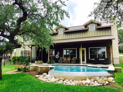 Photo for Lake LBJ on large private cove with Hot Tub and Pool