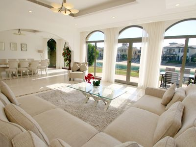 Photo for Stunning Palm Villa with Private Beach