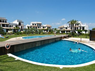 Photo for Casa 4 fabulous gardens, sea-views, twin pools & beach at just 200m