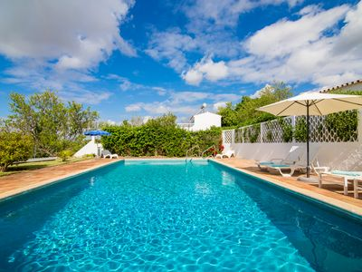 Photo for Beautiful characterful villa, sleeps 6, large private pool, gardens & sea views
