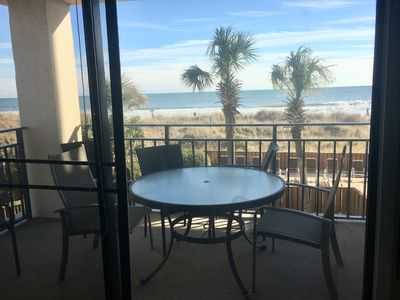 Photo for 3 bedroom direct oceanfront condo, WIFI, swimming pool, motorcycle friendly