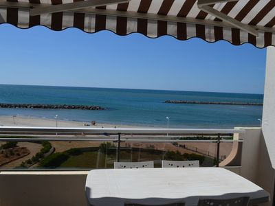 Photo for Studio waterfront, near beach, sea view, 4 persons