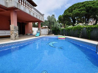 Photo for Villa Europa with panoramic views, to the beach 900m, comfortable for 10 people, private pool, terrace, internet, quiet area, parking for 4 cars