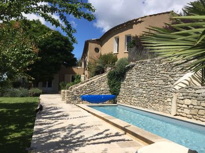 Photo for Luxury villa in the old center of Forcalquier, 10 private persons-pool