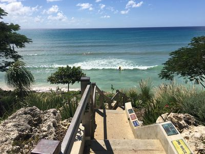 Photo for Sweet 2 Bedroom Apt steps away from Ocean and Surfing