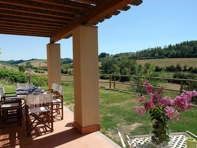 Photo for Nice apartment for 6 guests with WIFI, private pool, TV and parking