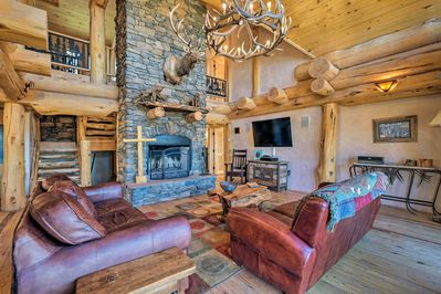 Book a trip to this 4-bedroom, 3-bath cabin in Angel Fire!