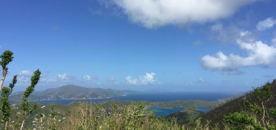 East End of St John and then Tortola and Virgin Gorda from your patio
