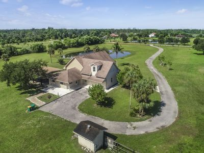 Photo for Rural home on five acres outside of the Everglades w/ patio, pond, nature views