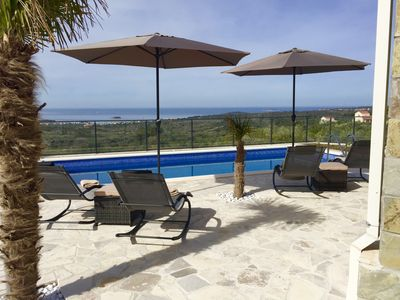 Photo for New villa for 8 people - Pool - Splendid sea view - 2 km from the sea