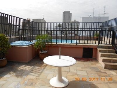 Photo for Magnificent duplex penthouse at 400 meters from the beach, with pool and barbecue