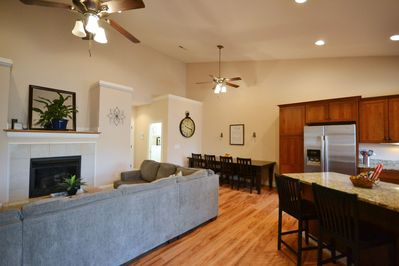 Open floor plan: Living room - dining room - kitchen