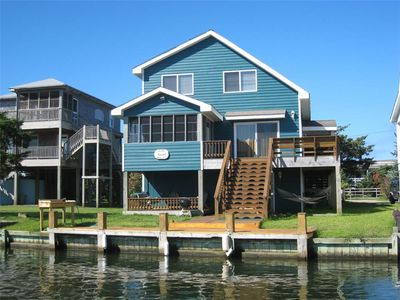Photo for Blind Mullet:  Family friendly, den, decks, deep water private dock.