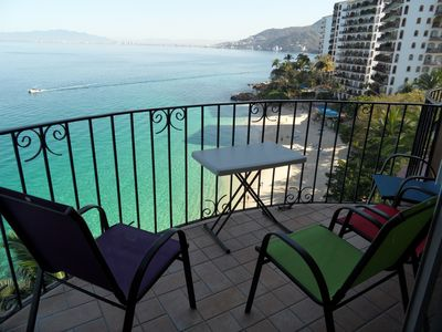 Photo for 2 Level Fabulous Condo Right On The Beach! Best View In Whole Puerto Vallarta!