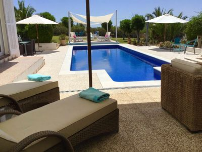 Photo for Fabulous detached villa with private pool. Extensive secluded gardens with BBQ .