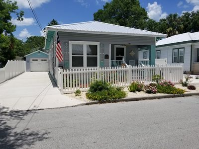 Photo for 3bd/2ba Cottage-Visit beach by day and Walk to downtown St Augustine