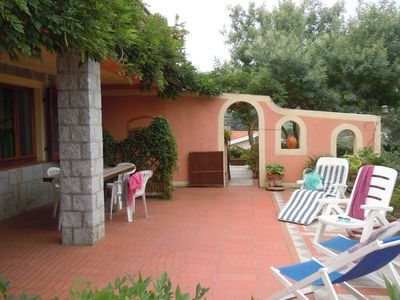 Photo for House  300 meters from the beach with large terrace overlooking the sea - two bathrooms suitable for
