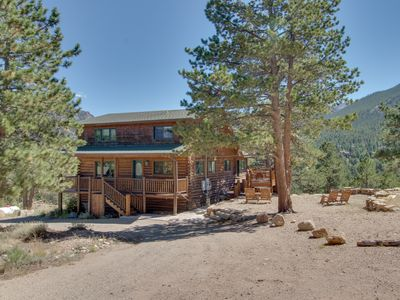 Photo for Historic cabin w/ furnished deck & mountain views! Optional Bunkhouse available.