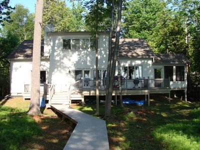 Photo for Perfect spot for family and friends-inland lake, 3 miles from Lake Michigan!