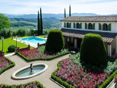 Photo for Luxurious villa on a property with wonderful gardens, next to Florence