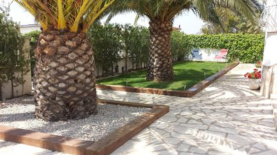 Photo for Detached villa with private pool 150m from the beach and natural grass,