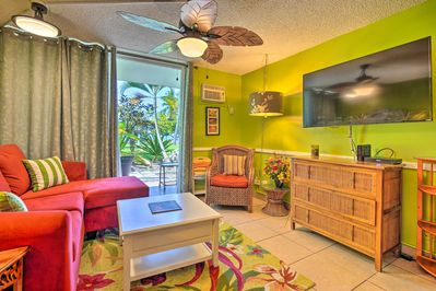 You're sure to love the vibrant interior of this Kailua Kona vacation rental.