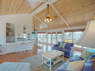 Photo for Gorgeous, waterfront Rockport home w/ dock & two full kitchens!