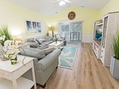 Photo for Newly Renovated Top Floor Condo with Pool, Golf Course View-1 mile to the beach!