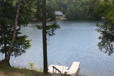 View of the dock and lake from the wrap around deck