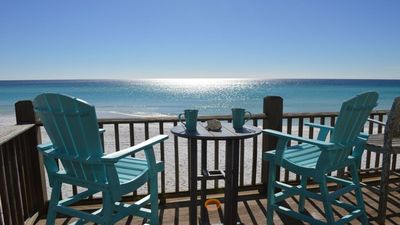 Photo for Paradise on the Beach - Direct Gulf/Beach Front Villa  -on the water - Sleeps 8