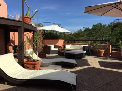 Photo for luxury apartment in a quiet 10 minutes walk from the port of St Tropez