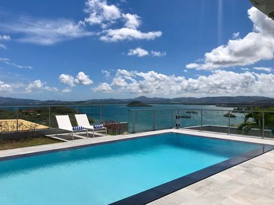 Photo for Luxurious villa 8 people, swimming pool + Caribbean Sea view = SUPER HOLIDAYS