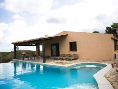Photo for Beautiful villa with private pool just steps from the sea.