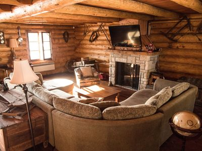 Photo for Log Cottages - 30 Person Banquet Room, sleeps 16 - Party - Reunions - Ski Trips