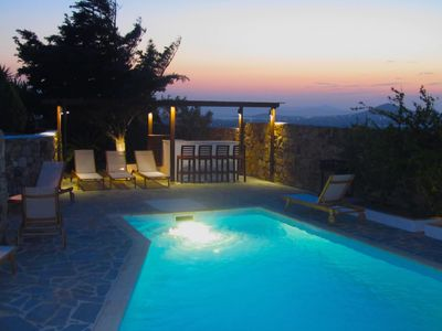 Photo for Luxury villa with private pool, grounds & stunning sea and sunset views