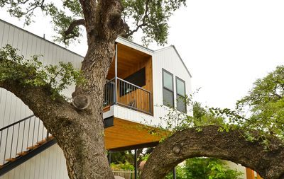 Exterior - Our 1BR treehouse overlooks rooftops and treetops in Austin TX