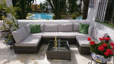 Lounge area on terrace