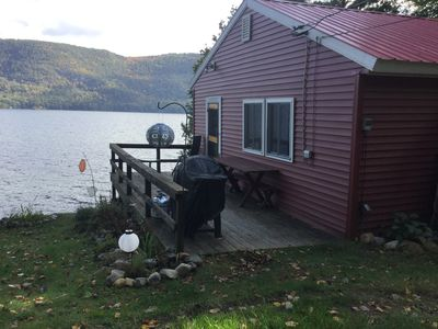 Photo for Lake-side cabin on quiet, northern end of Lake George.