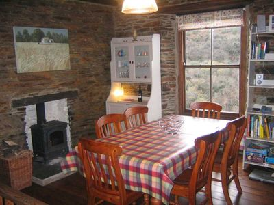 Dining Room With Woodburning Stove