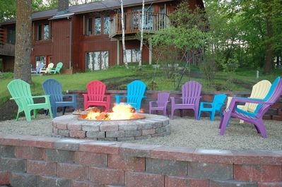 The fire pit at Laughing Loon Point - ready for you to make family memories