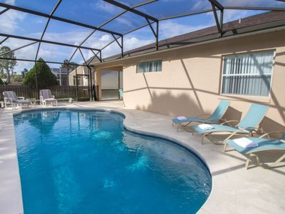 Photo for NEWLY RENOVATED Kitchen and bathrooms- 3 bed, South-facing Pool, 3 miles to Disney, family friendly