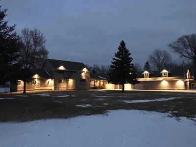 Photo for Pickerel Lakeside Retreat / amazing sandy beach with wifi.  Huge modern home.