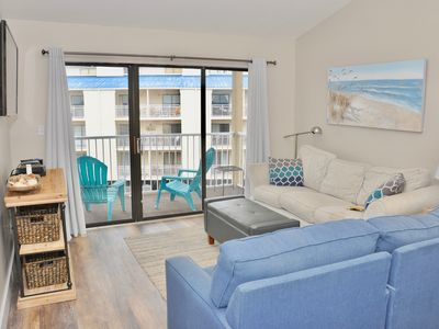 Photo for August Special!! $10 off per night! 2 bedrooms, 2 bath, sleeps 6, BEACHSIDE!