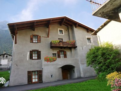 Photo for BORMIO NEARBY APARTMENT IN A TYPICAL HOUSE